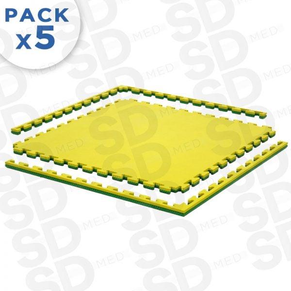 pack 5 tatami 2,5 cm amarillo morado