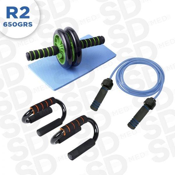 rueda + push up + cuerda R2