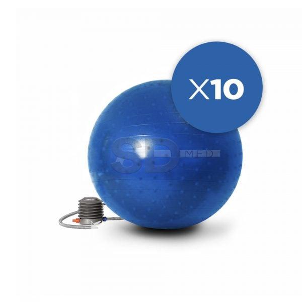 Pack 10x Balones Erizo Pelota Pilates 65 Cm + 3 Inflador – SD MED 6611f32341da9
