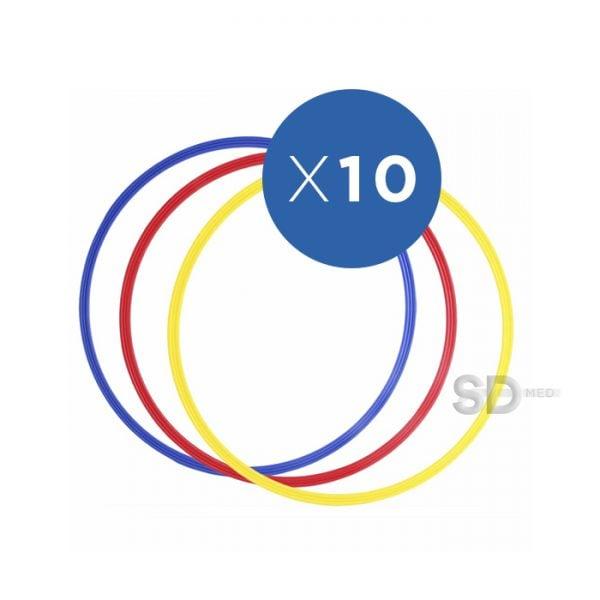 eab1d71985e9 Pack 10x Aros de agilidad ancho 80 cm – Colores surtidos – SD MED