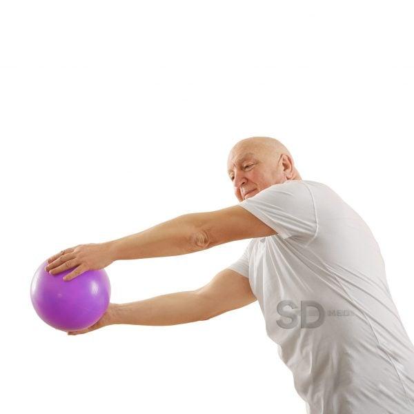 Senior man training in rehabilitation center