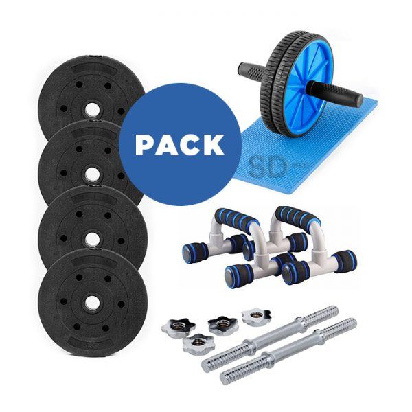 pack-mancuernas+discos-cementados+push-up+ab-wheel